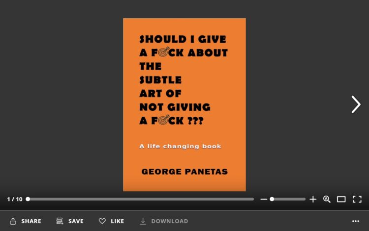 SHOULD I GIVE A FUCK ABOUT THE SUBTLE ART OF NOT GIVING A FUCK - GEORGE PANETAS - flipbook
